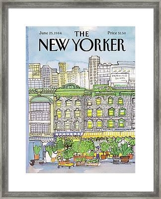 New Yorker June 25th, 1984 Framed Print by Barbara Westman