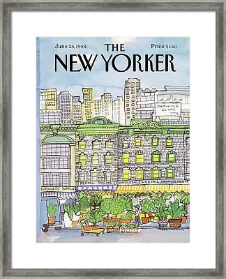 New Yorker June 25th, 1984 Framed Print