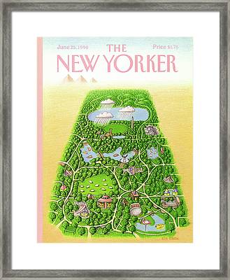 New Yorker June 25th, 1990 Framed Print