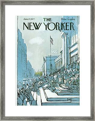 New Yorker June 27th, 1977 Framed Print