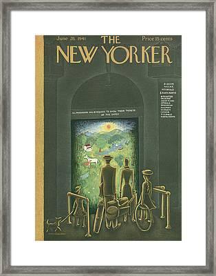 New Yorker June 28th, 1941 Framed Print by Christina Malman