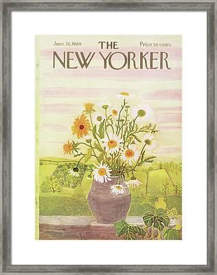 New Yorker June 28th, 1969 Framed Print