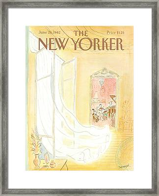 New Yorker June 28th, 1982 Framed Print by Jean-Jacques Sempe