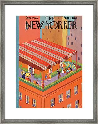 New Yorker June 29th, 1929 Framed Print by Ray Euffa