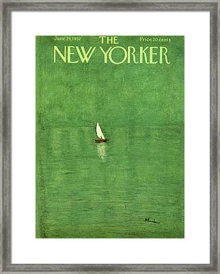 New Yorker June 29th, 1957 Framed Print by Abe Birnbaum