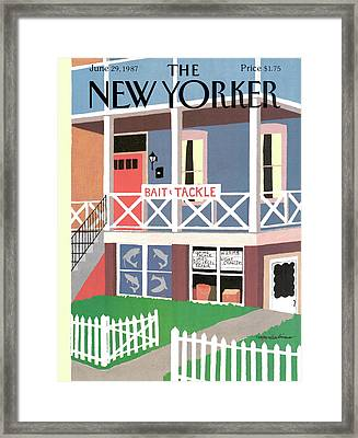 New Yorker June 29th, 1987 Framed Print by Marisabina Russo