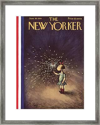 New Yorker June 30th, 1934 Framed Print by William Steig