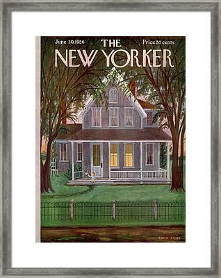 New Yorker June 30th, 1956 Framed Print by Edna Eicke