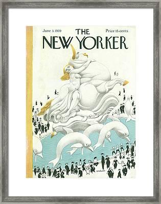 New Yorker June 3rd, 1939 Framed Print by Christina Malman