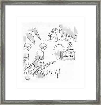 New Yorker June 3rd, 1944 Framed Print by Chon Day