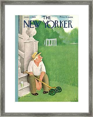 New Yorker June 3rd, 1944 Framed Print by Will Cotton