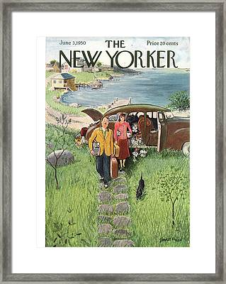 New Yorker June 3rd, 1950 Framed Print by Garrett Price