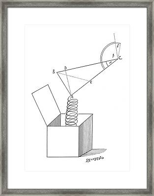 New Yorker June 4th, 1960 Framed Print by Saul Steinberg