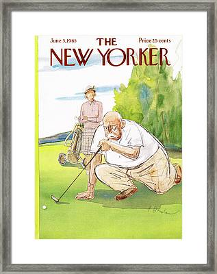 New Yorker June 5th, 1965 Framed Print by Perry Barlow