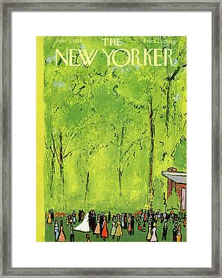 New Yorker June 7th, 1958 Framed Print by Abe Birnbaum