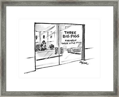 New Yorker June 7th, 1999 Framed Print by Lee Lorenz