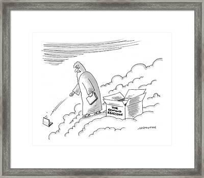 New Yorker June 7th, 1999 Framed Print by Mick Stevens
