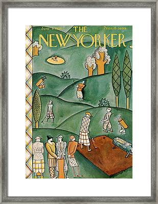 New Yorker June 9th, 1928 Framed Print by Ilonka Karasz