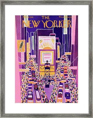New Yorker March 10th, 1928 Framed Print by Ilonka Karasz