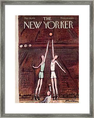 New Yorker March 10th, 1951 Framed Print by Abe Birnbaum