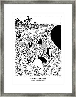 New Yorker March 10th, 1951 Framed Print by Gluyas Williams