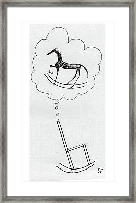 New Yorker March 10th, 1962 Framed Print by Saul Steinberg