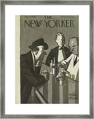 New Yorker March 11th, 1950 Framed Print by Peter Arno