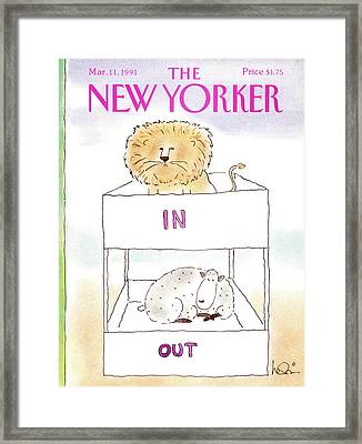 New Yorker March 11th, 1991 Framed Print