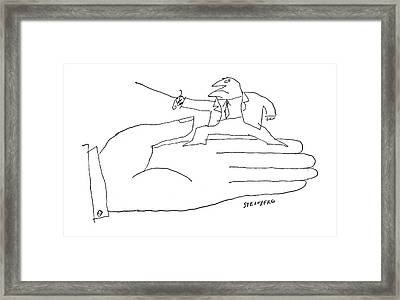 New Yorker March 12th, 1960 Framed Print by Saul Steinberg
