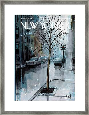New Yorker March 12th, 1966 Framed Print by Arthur Getz