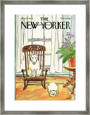 New Yorker March 12th, 1979 Framed Print by George Booth