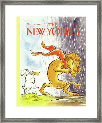 New Yorker March 13th, 1989 Framed Print