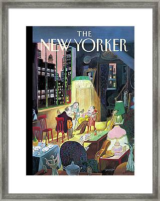 New Yorker March 13th, 2006 Framed Print by Jean-Jacques Sempe