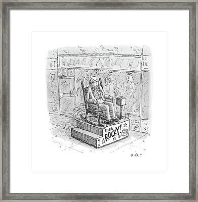 New Yorker March 13th, 2017 Framed Print by Roz Chast