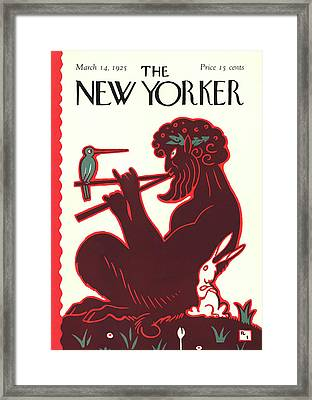 New Yorker March 14th, 1925 Framed Print by Rea Irvin
