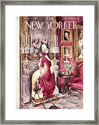 New Yorker March 14th, 1942 Framed Print by Mary Petty