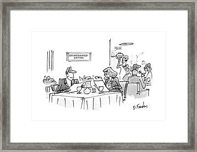 New Yorker March 14th, 1988 Framed Print by Dana Fradon