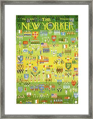 New Yorker March 15th, 1969 Framed Print by Anatol Kovarsky