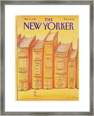 New Yorker March 15th, 1982 Framed Print