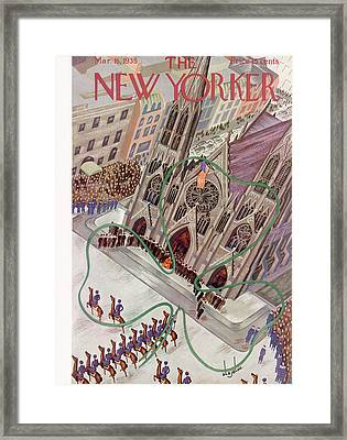 New Yorker March 16th, 1935 Framed Print