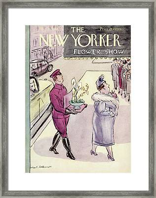 New Yorker March 16th, 1940 Framed Print by Helen E. Hokinson
