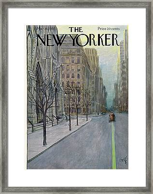New Yorker March 16th, 1957 Framed Print