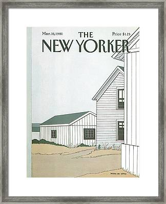 New Yorker March 16th, 1981 Framed Print by Gretchen Dow Simpson
