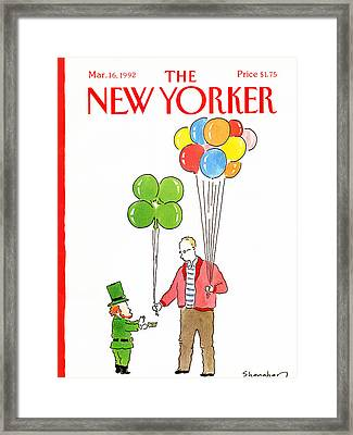 New Yorker March 16th, 1992 Framed Print by Danny Shanahan