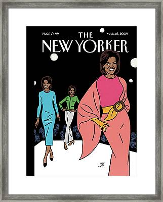 New Yorker March 16th, 2009 Framed Print by Jean Claude Floc'h
