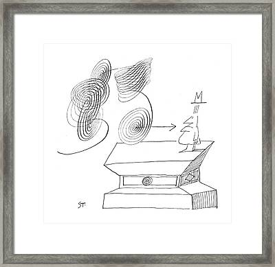 New Yorker March 17th, 1962 Framed Print by Saul Steinberg