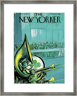 New Yorker March 18th, 1961 Framed Print by Arthur Getz
