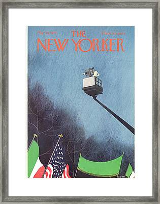 New Yorker March 18th, 1972 Framed Print by Charles E. Martin