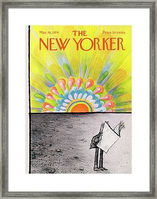 New Yorker March 18th, 1974 Framed Print