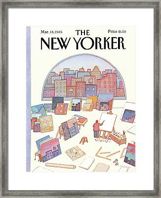 New Yorker March 18th, 1985 Framed Print by Lonni Sue Johnson